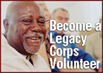LSSI Looking for Legacy Corps Volunteers