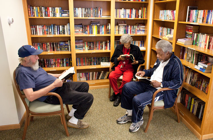 Our Joliet senior housing facility contains a library
