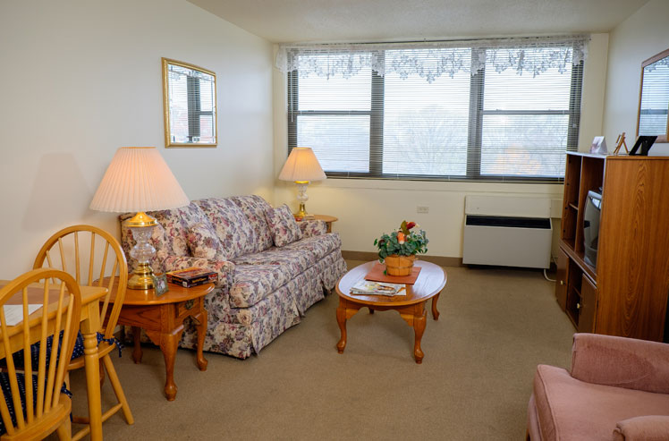 Living room in our Joliet supportive living arrangements